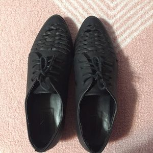 Forever 21 Shoes - Black oxford flats